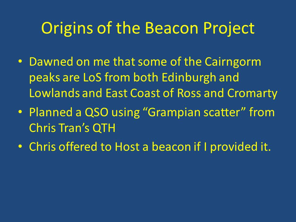Origins of the Beacon Project