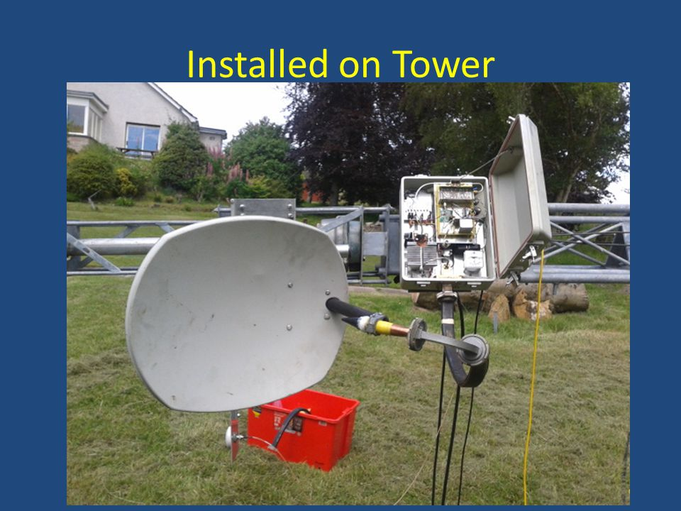 Installed on Tower