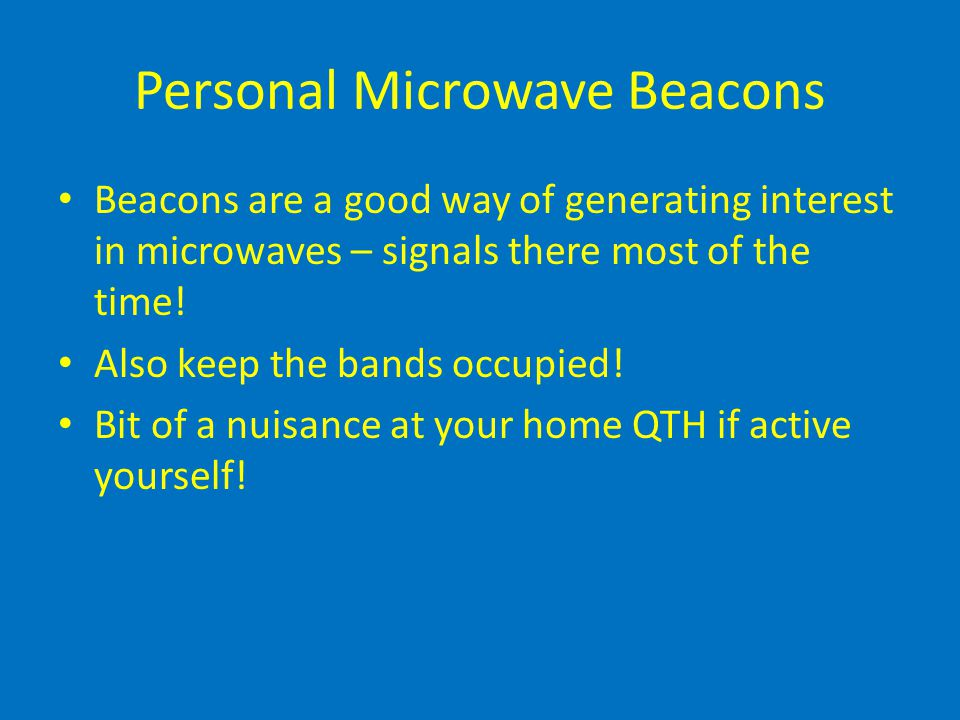 Personal Microwave Beacons