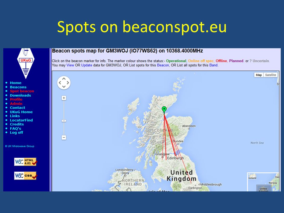 Spots on beaconspot.eu