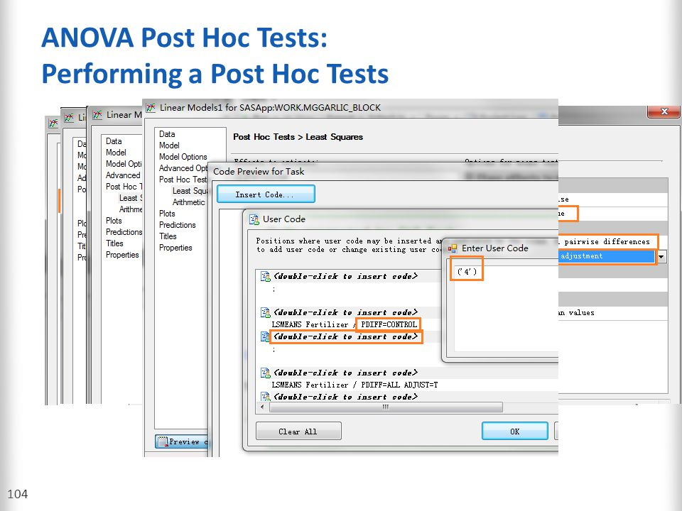 ANOVA Post Hoc Tests: Performing a Post Hoc Tests