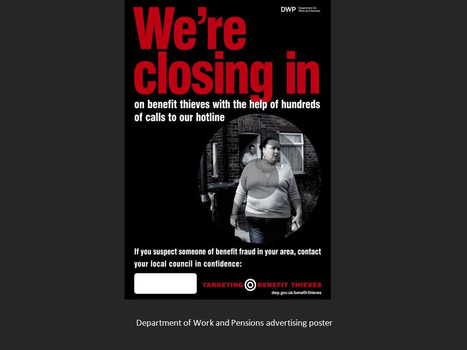 Department of Work and Pensions advertising poster