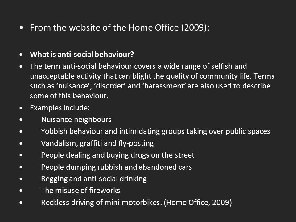 From the website of the Home Office (2009):