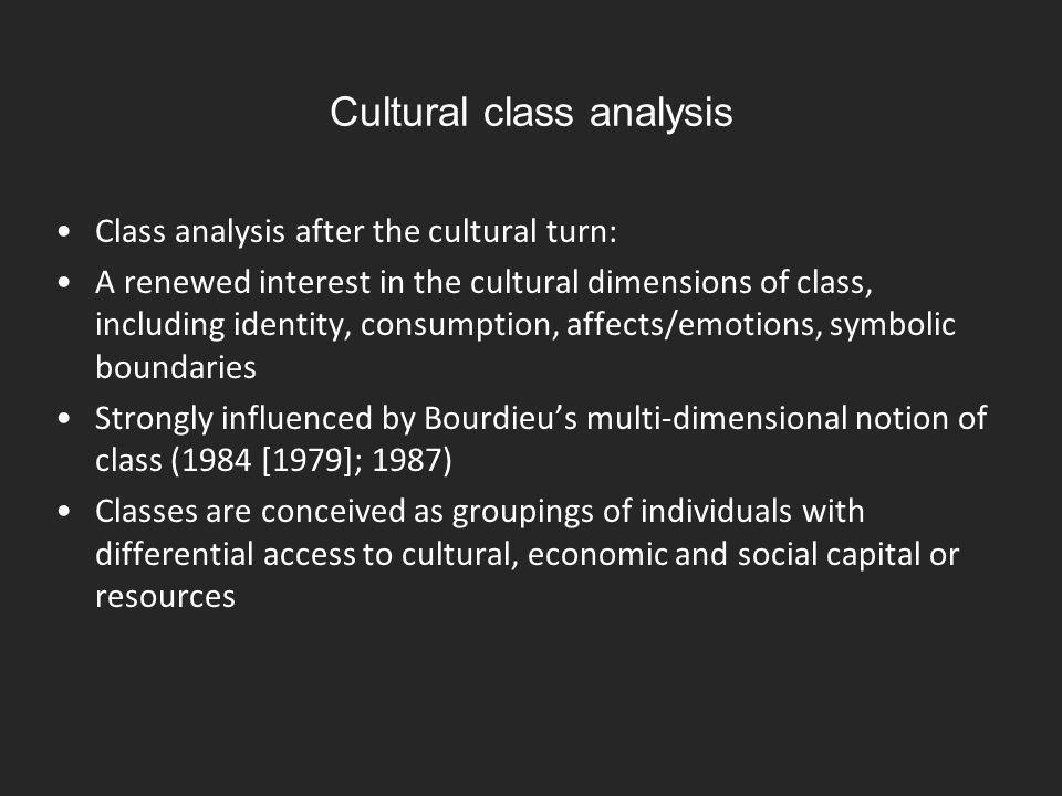 Cultural class analysis
