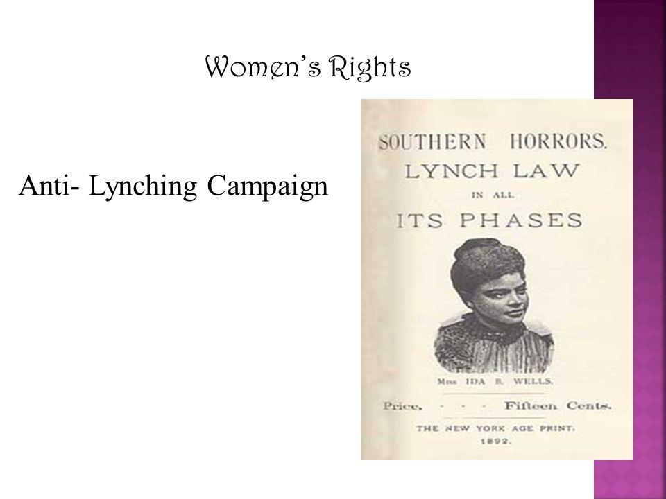 Anti- Lynching Campaign