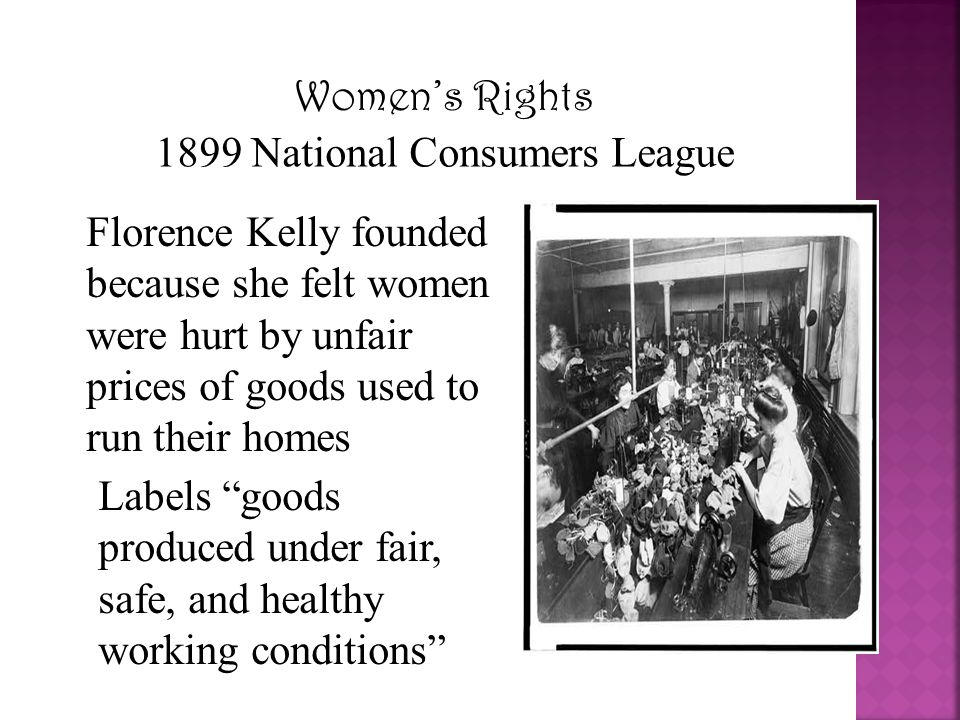 1899 National Consumers League