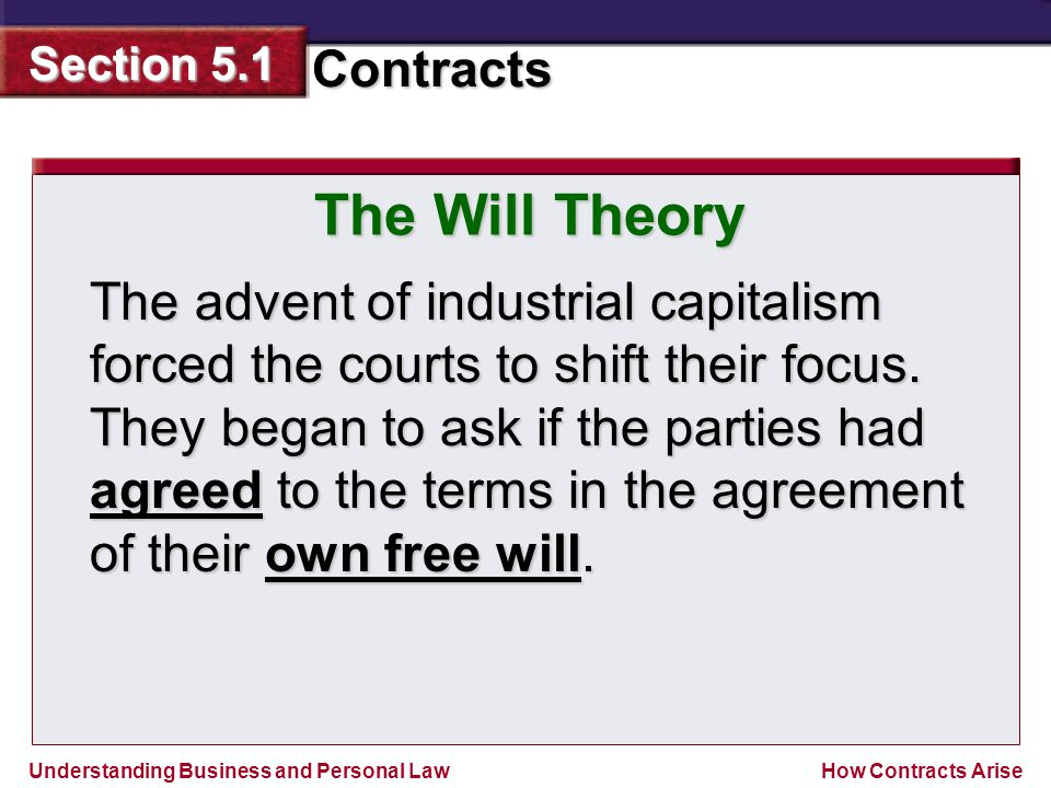 The Will Theory
