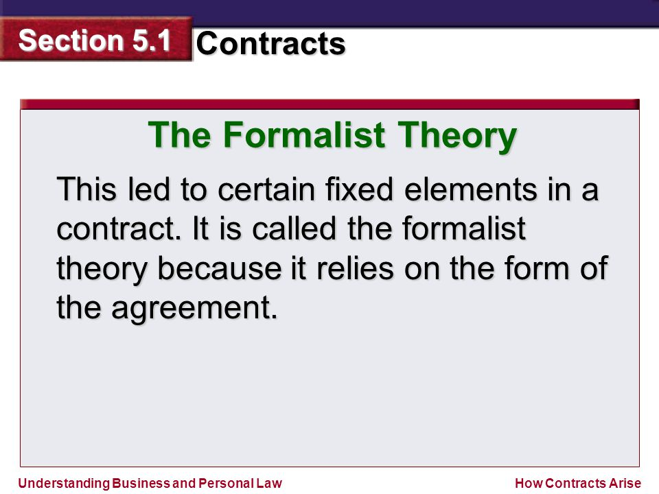 The Formalist Theory