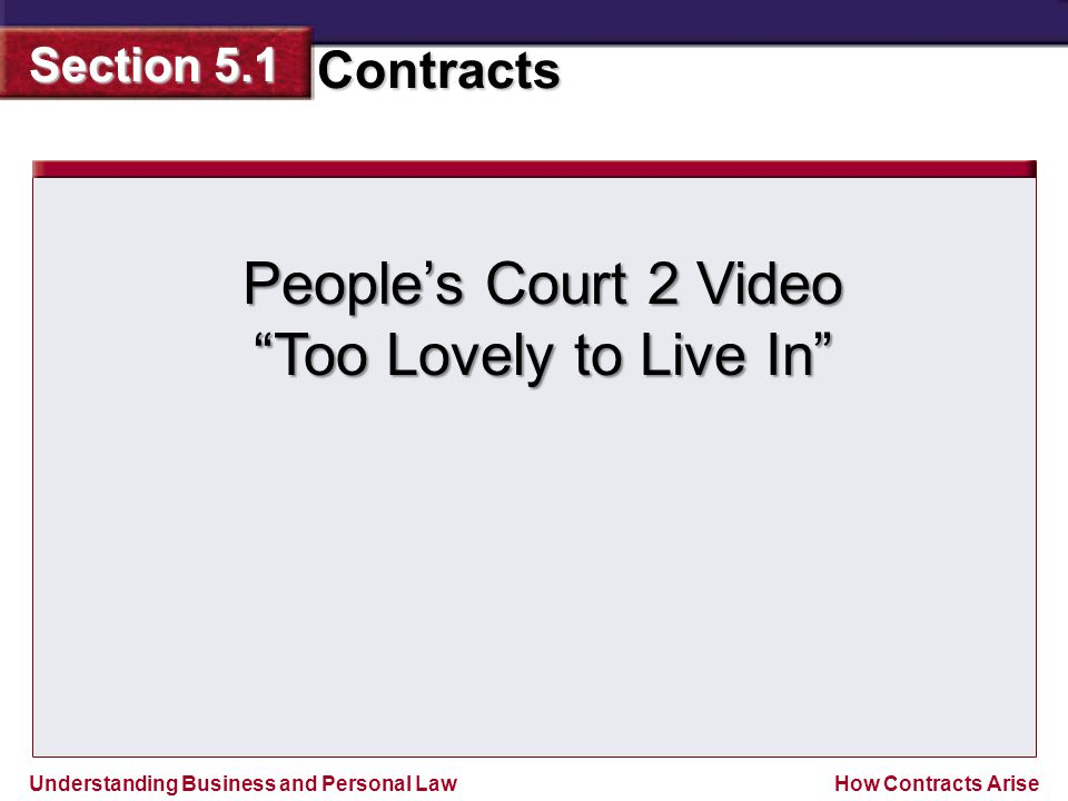 People's Court 2 Video Too Lovely to Live In