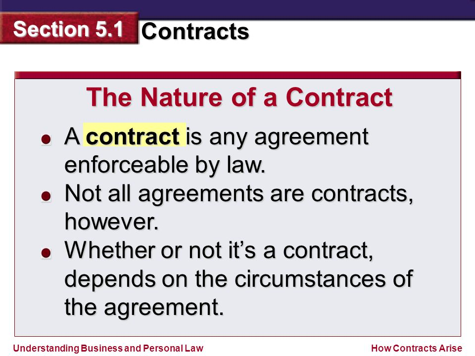 The Nature of a Contract