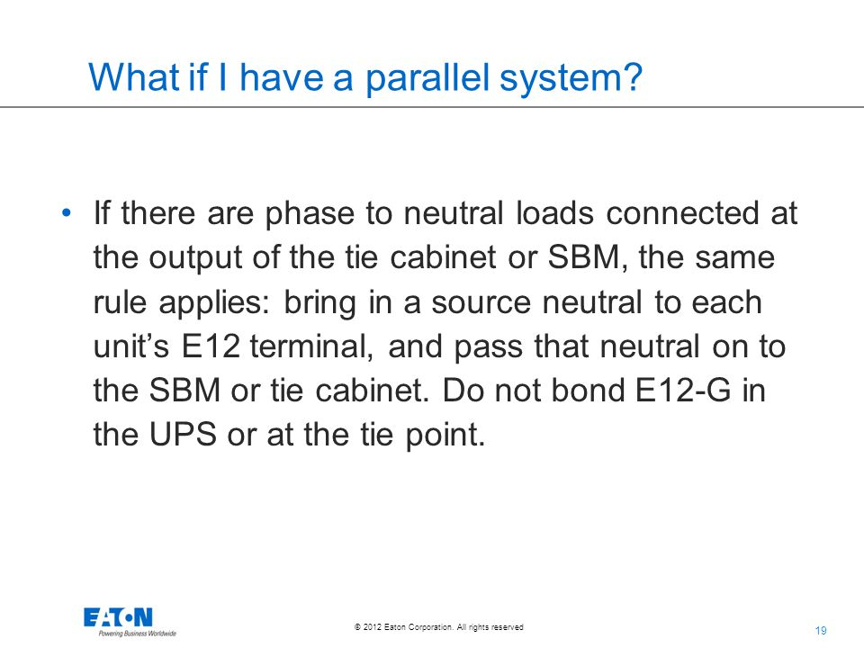 What if I have a parallel system
