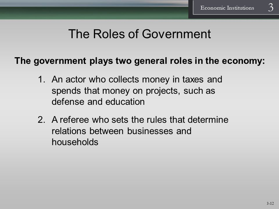 The Roles of Government