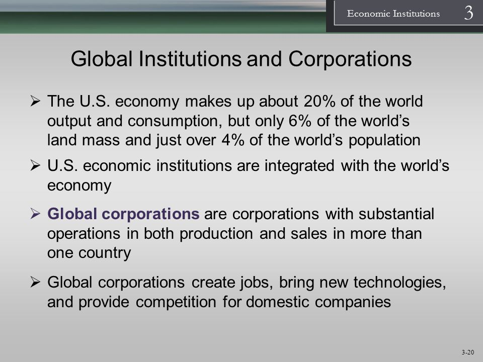 Global Institutions and Corporations