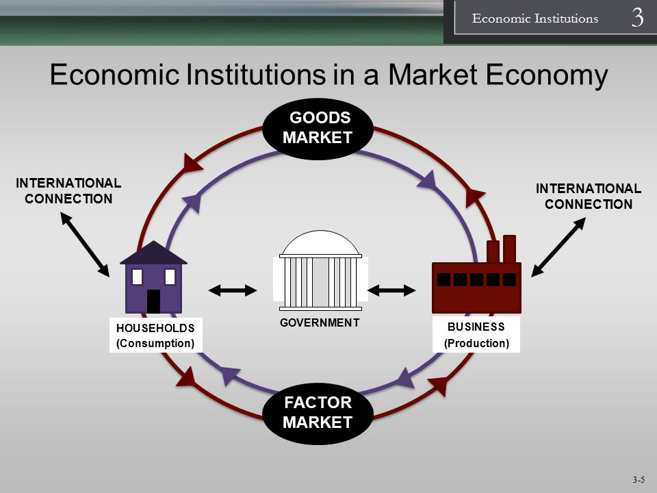 Economic Institutions in a Market Economy
