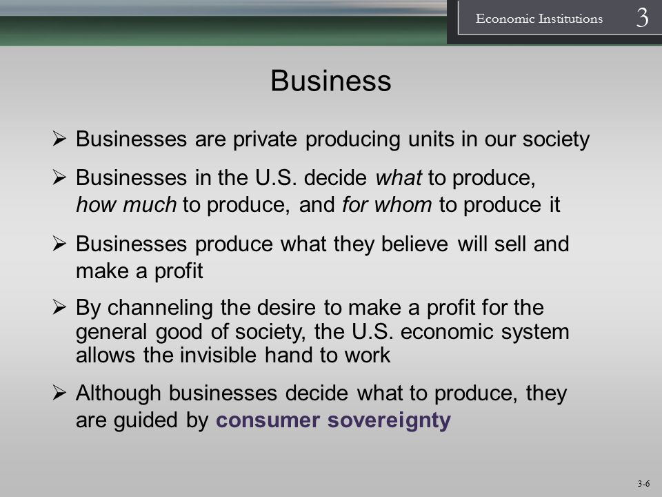 Business Businesses are private producing units in our society
