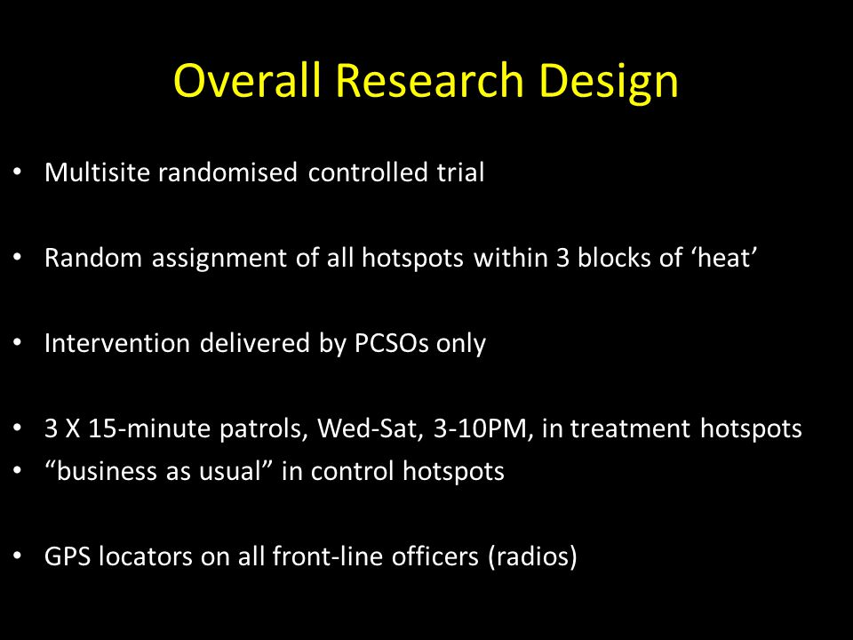 Overall Research Design
