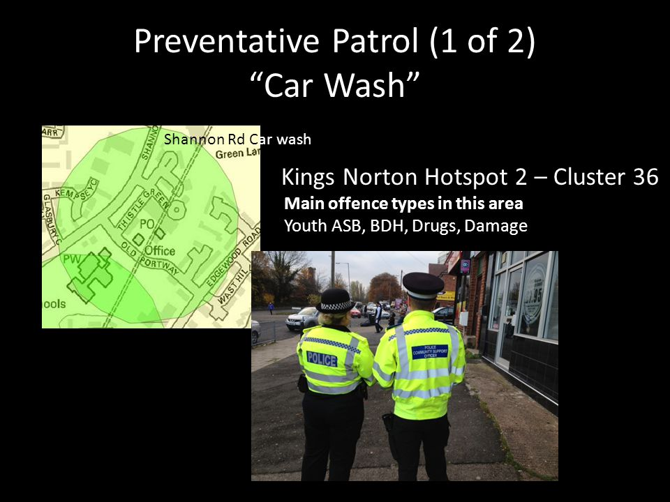 Preventative Patrol (1 of 2) Car Wash