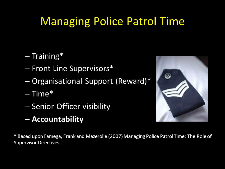 Managing Police Patrol Time