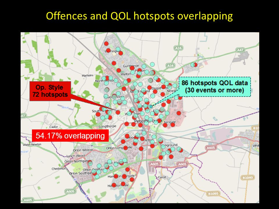 Offences and QOL hotspots overlapping