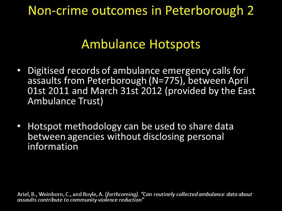 Non-crime outcomes in Peterborough 2 Ambulance Hotspots