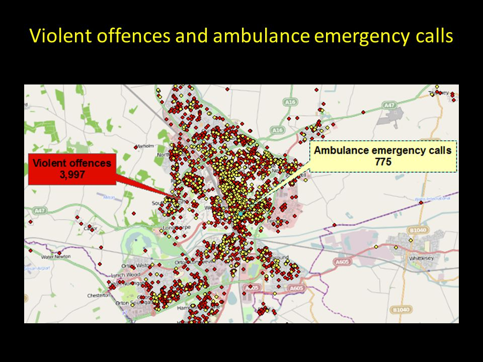 Violent offences and ambulance emergency calls