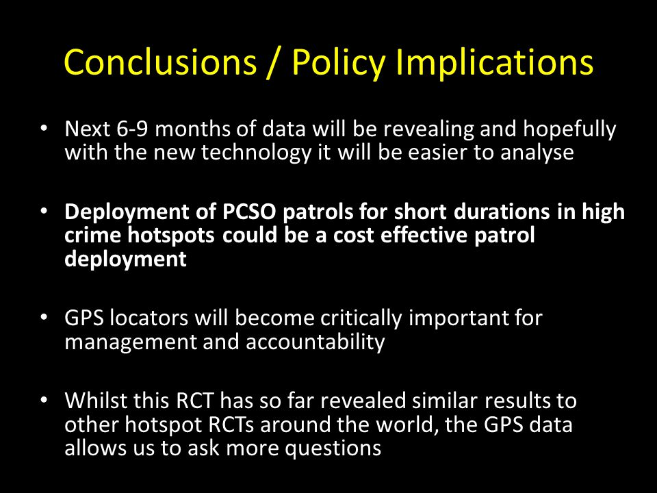 Conclusions / Policy Implications