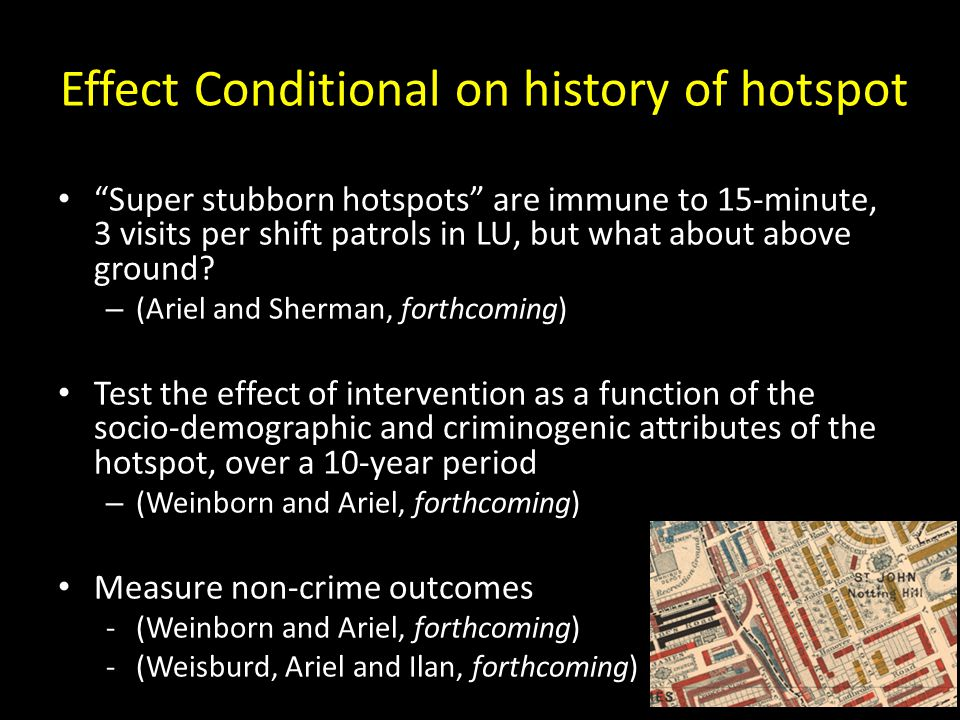 Effect Conditional on history of hotspot