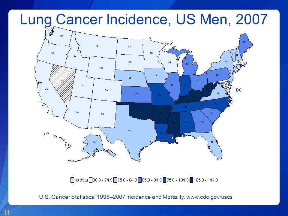 Lung Cancer Incidence, US Men, 2007