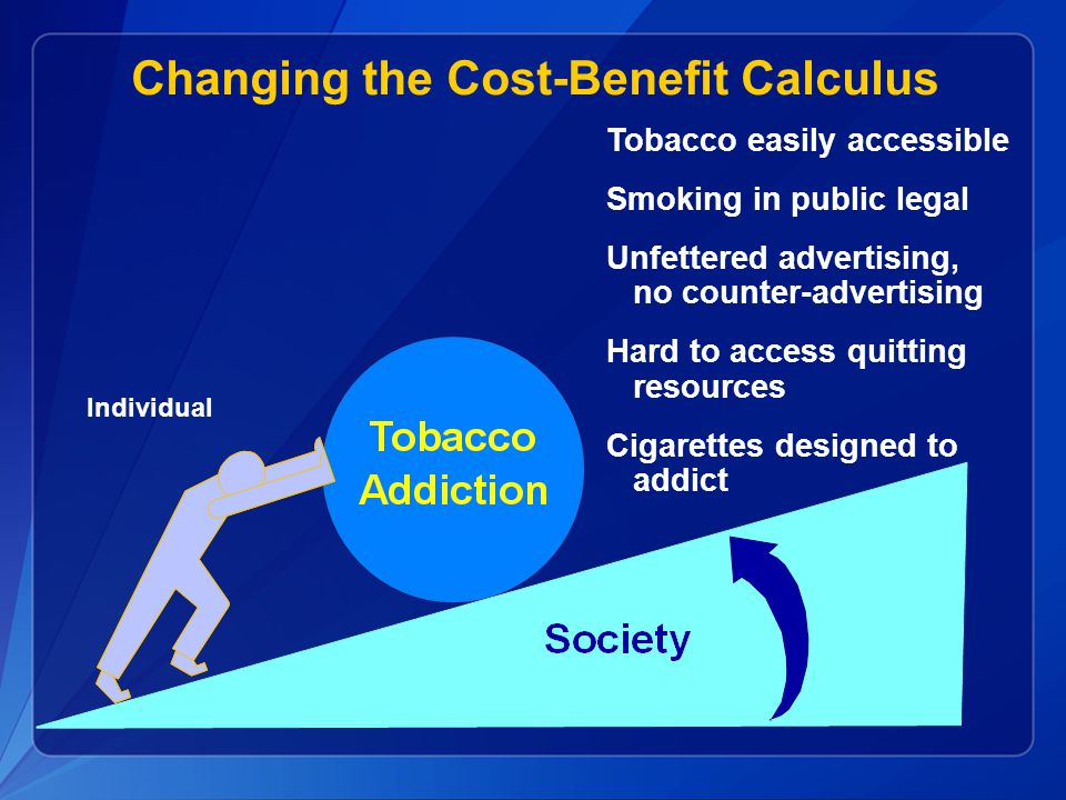 Changing the Cost-Benefit Calculus