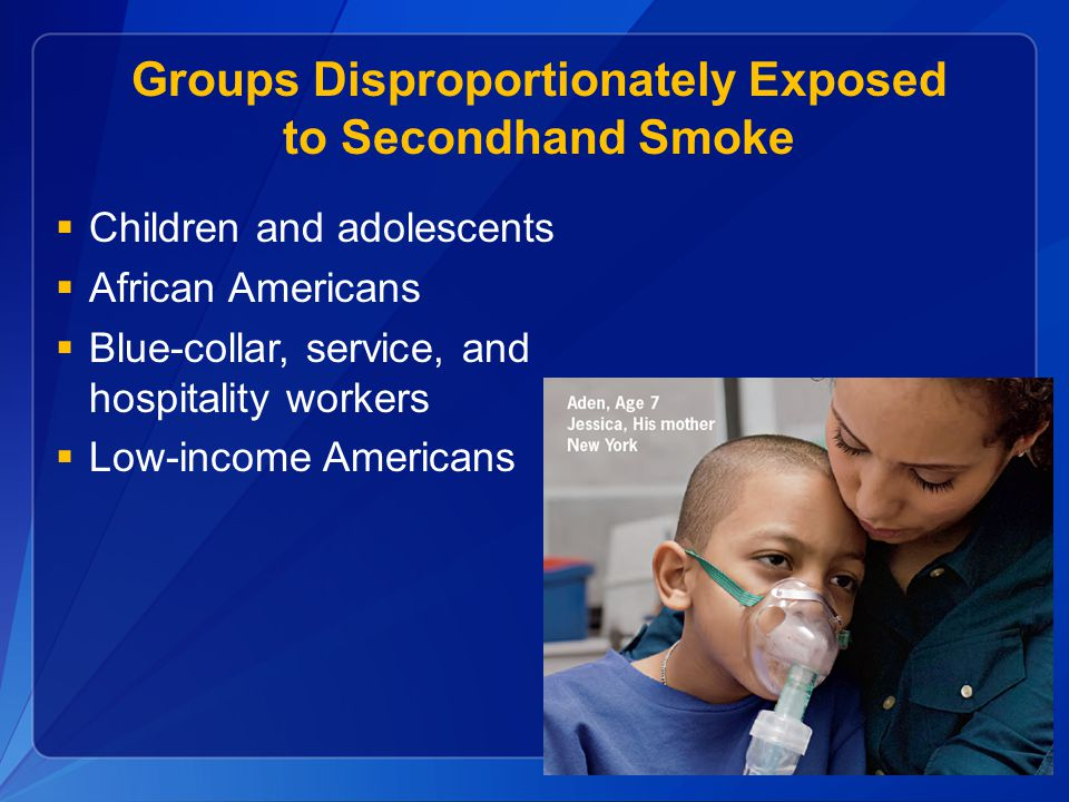 Groups Disproportionately Exposed to Secondhand Smoke