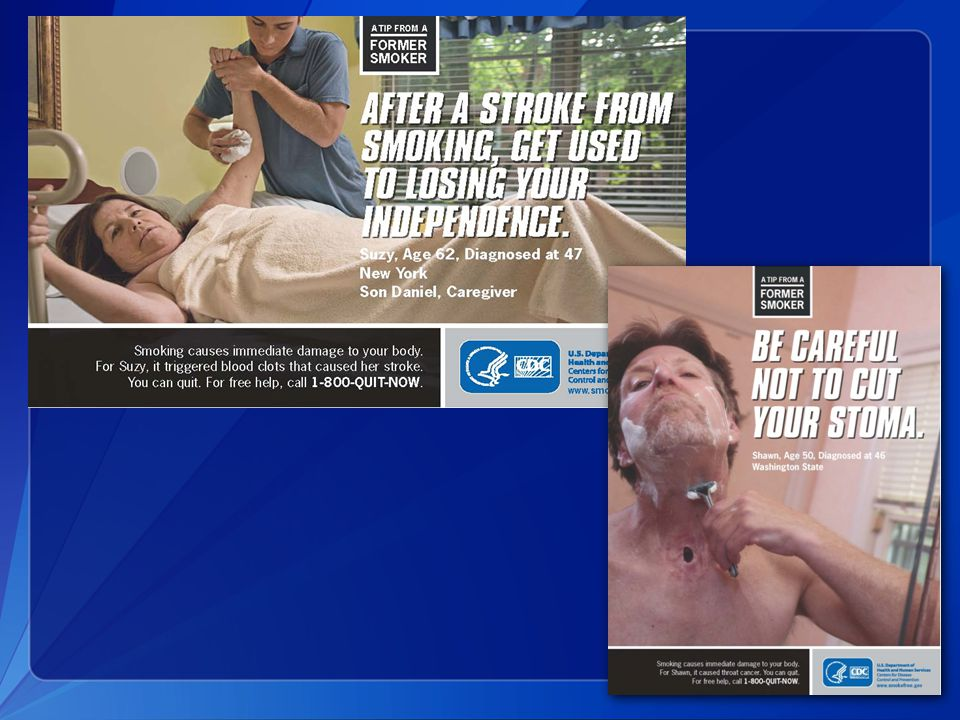 The Office of Smoking and Health took an evidence based approach to ad development.