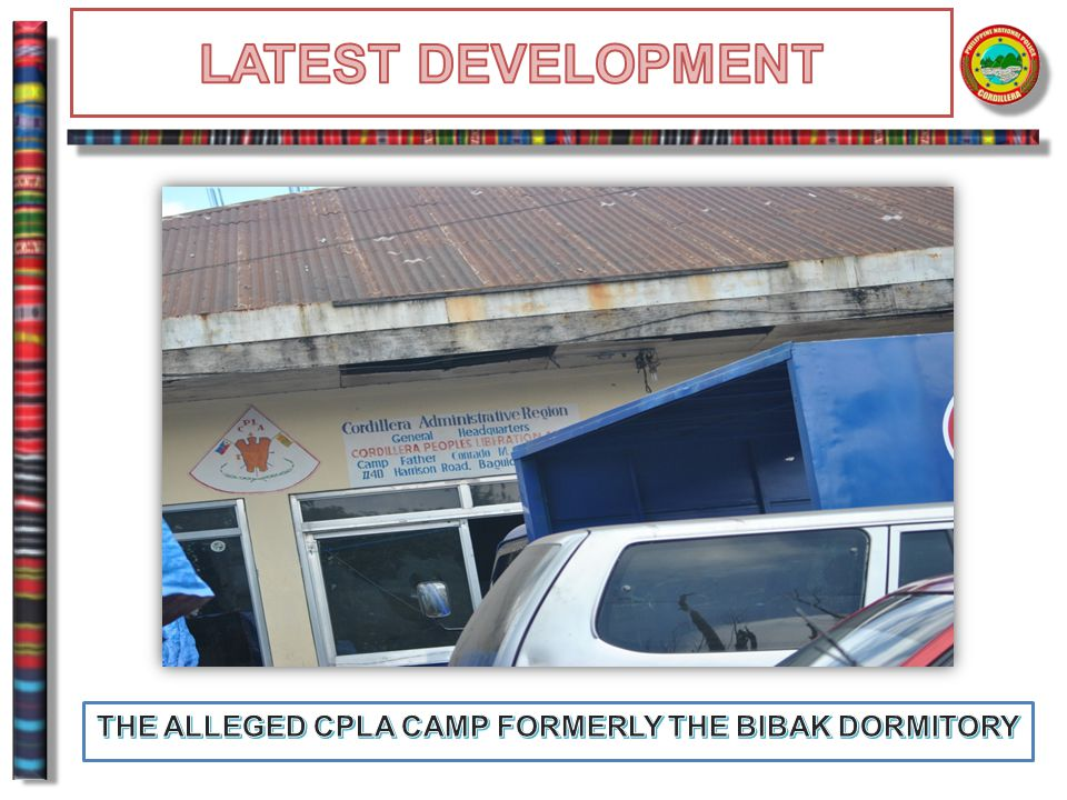 THE ALLEGED CPLA CAMP FORMERLY THE BIBAK DORMITORY