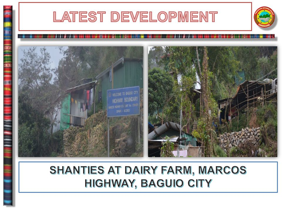 SHANTIES AT DAIRY FARM, MARCOS HIGHWAY, BAGUIO CITY