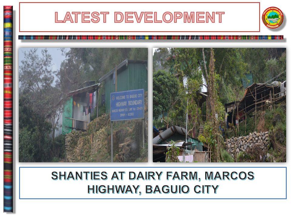 SHANTIES AT DAIRY FARM, MARCOS HIGHWAY, BAGUIO CITY