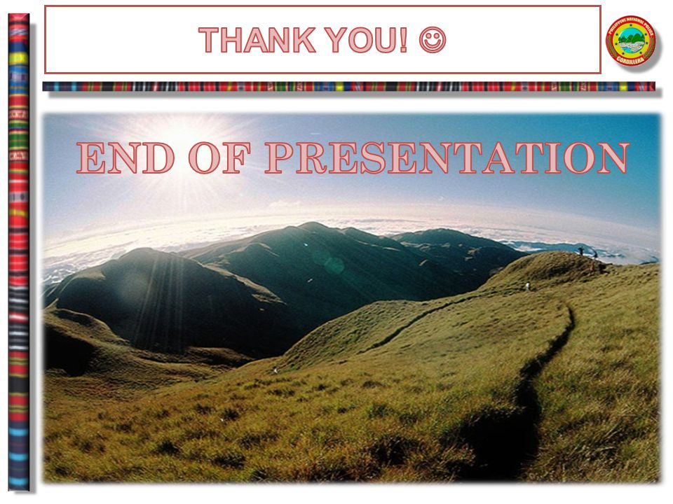 THANK YOU!  END OF PRESENTATION