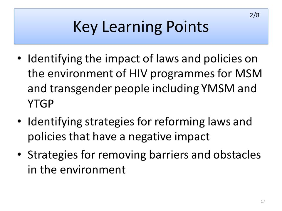 Key Learning Points 2/8.