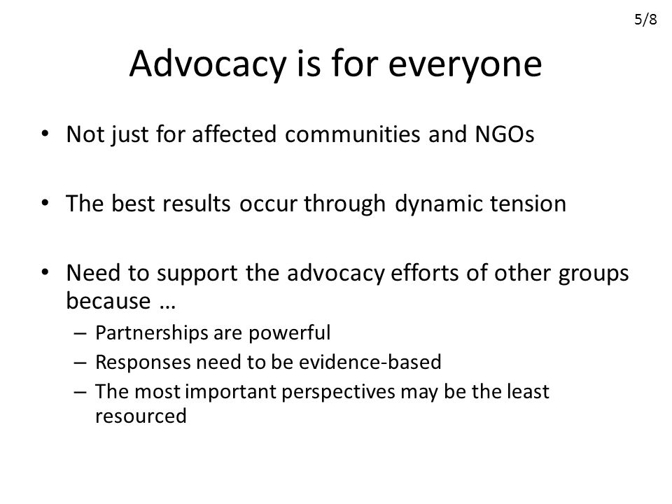 Advocacy is for everyone