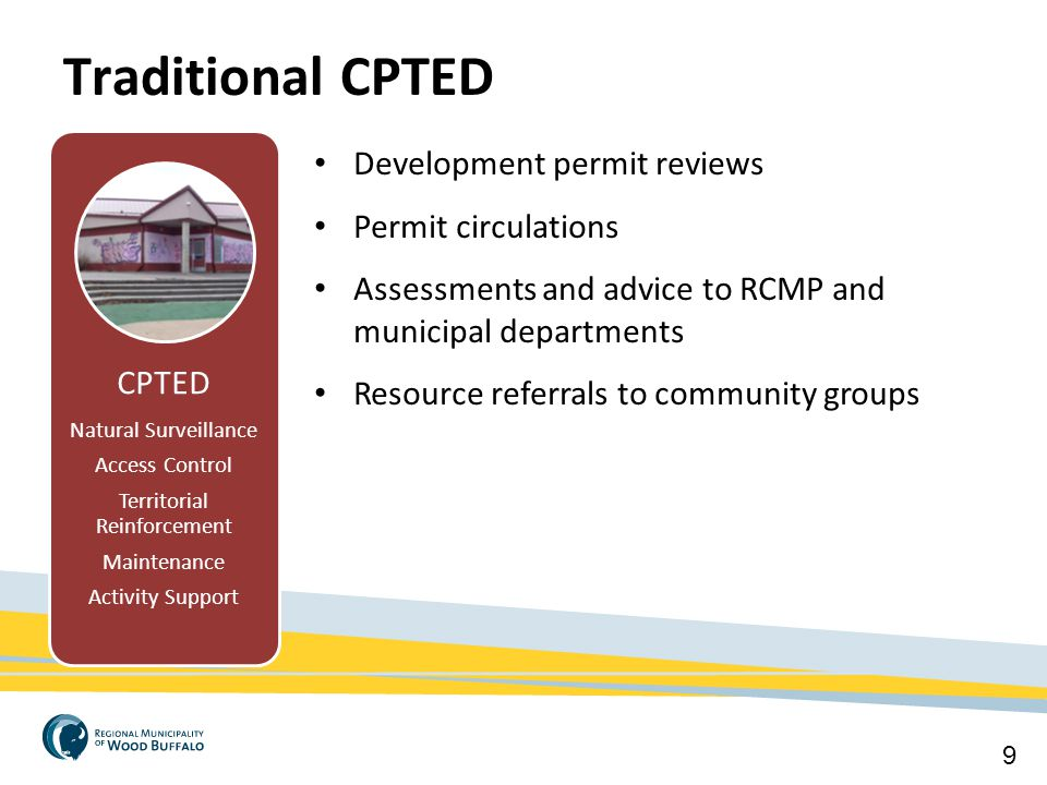 Traditional CPTED Crime Free Multi-Housing Development permit reviews
