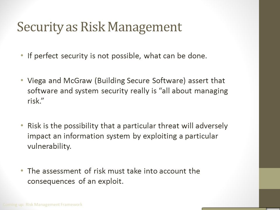 Security as Risk Management