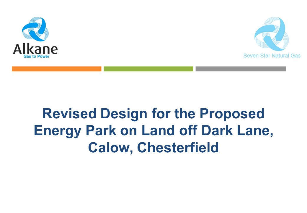 Revised Design for the Proposed Energy Park on Land off Dark Lane, Calow, Chesterfield