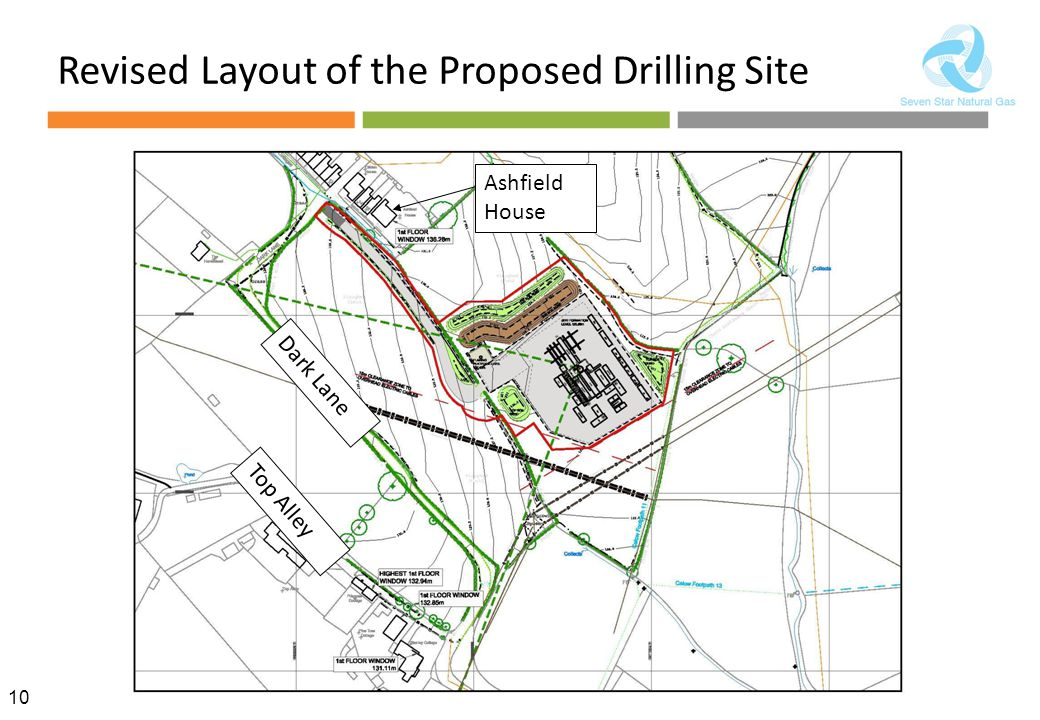 Revised Layout of the Proposed Drilling Site