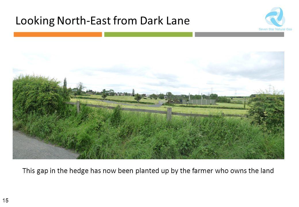 Looking North-East from Dark Lane