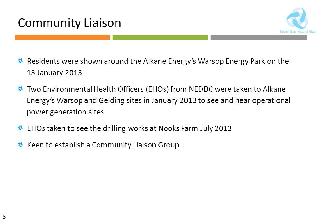 Community Liaison Residents were shown around the Alkane Energy's Warsop Energy Park on the 13 January 2013.
