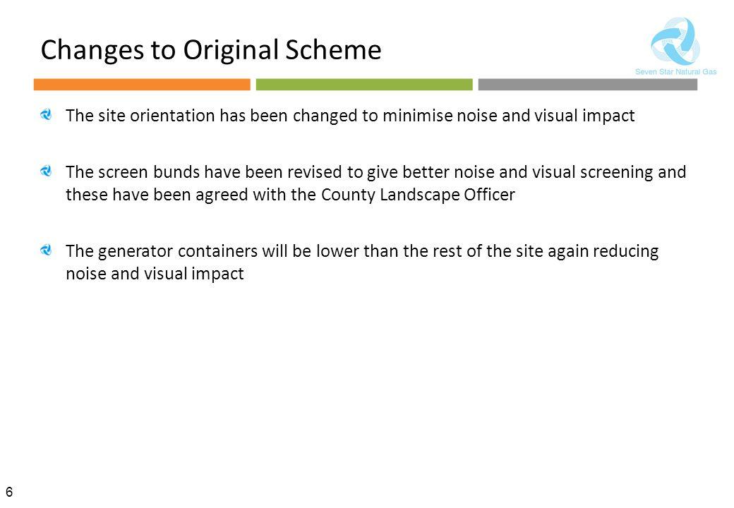 Changes to Original Scheme
