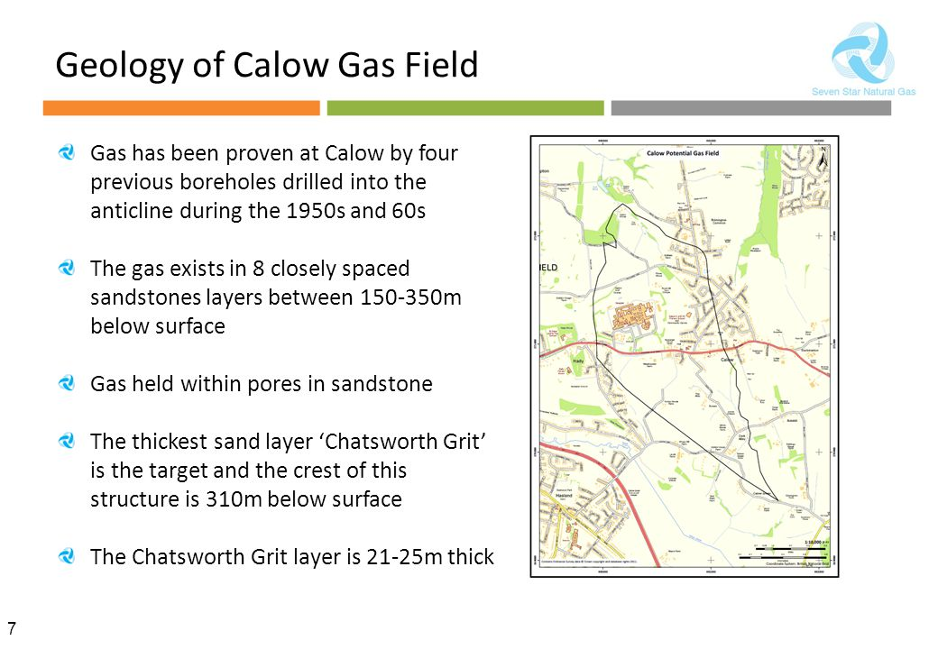 Geology of Calow Gas Field