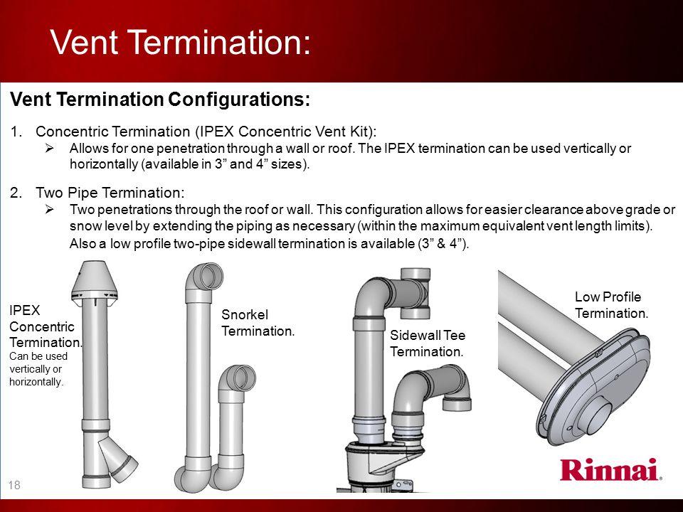 Vent Termination: Vent Termination Configurations:
