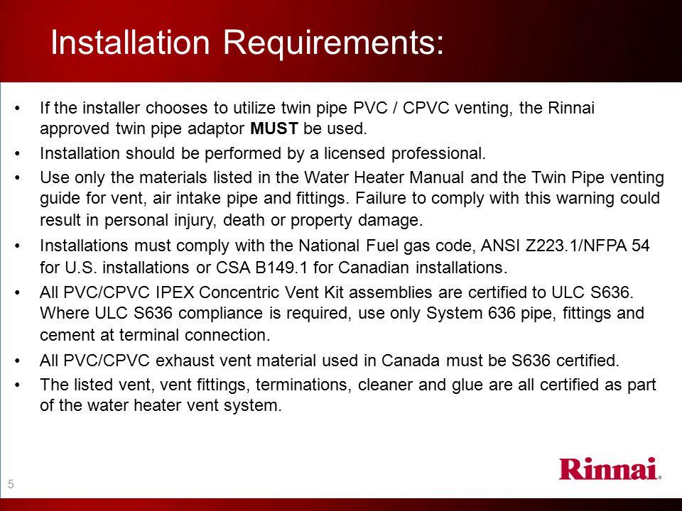 Installation Requirements:
