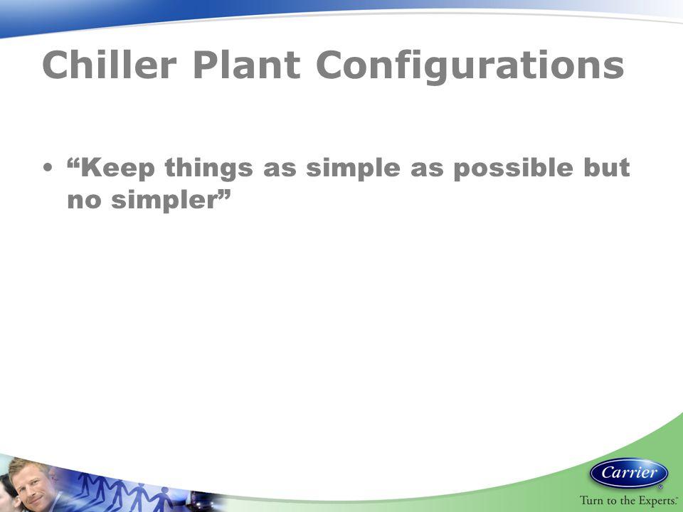 Chiller Plant Configurations