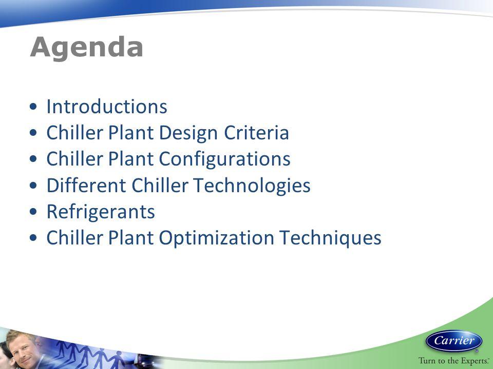 Agenda Introductions Chiller Plant Design Criteria