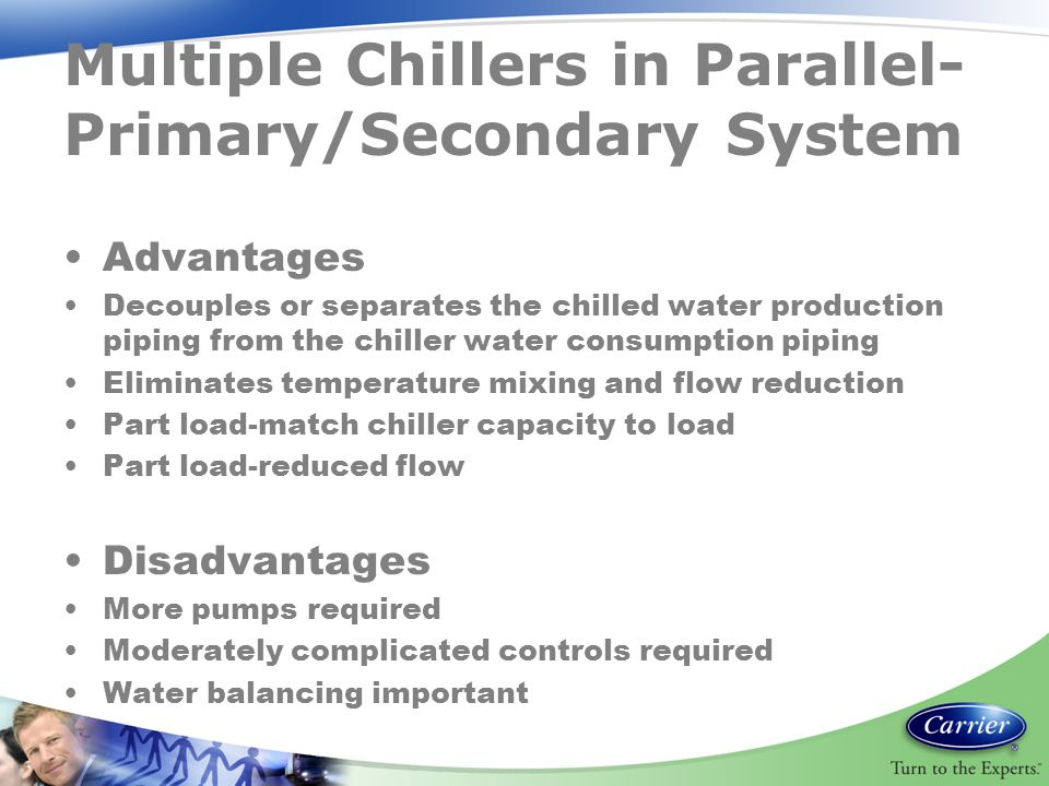 Multiple Chillers in Parallel-Primary/Secondary System